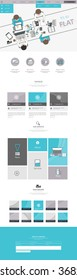 one page website template in flat design