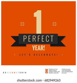 One Perfect Year Let's Celebrate Anniversary Poster