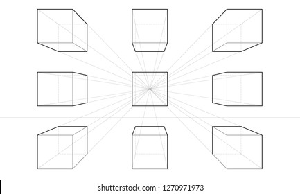 One Point Perspective Drawing Tutorial