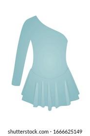 One sleeve blue dress. vector illustration