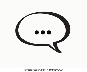 One speech bubble with the ellipsis