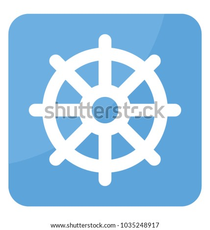 One Symbol Dharmachakra Used Buddhism Stock Vector Royalty Free