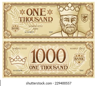 one thousand abstract banknote