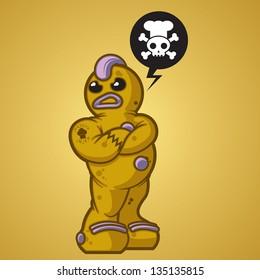 One tough cooke. Gingerbread man that takes no $#%^.