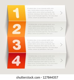 one, two, three, four options - Vector graphic design - orange