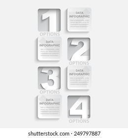 one two three four options for data based strategy template / paper cut style