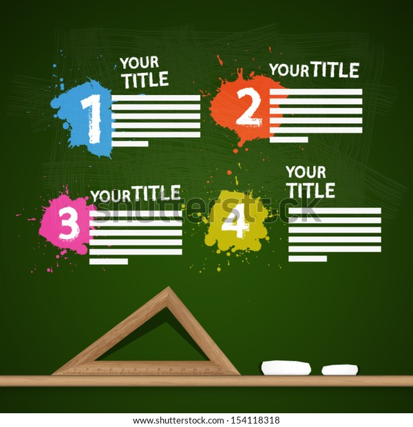 One, Two, Three, Four, Vector Steps for Tutorial, Infographics