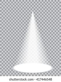 one vector transparent spotlight