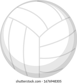 One volleyball on white background illustration