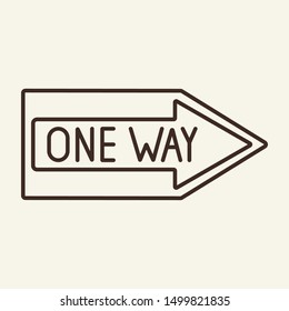 One way line icon. Road sign, direction, arrow. Traffic concept. Can be used for topics like navigation, transportation, warning