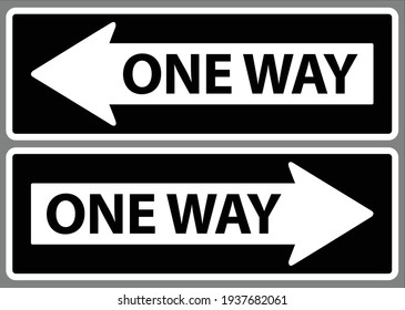One way sign. left and right arrow symbol vector illustration
