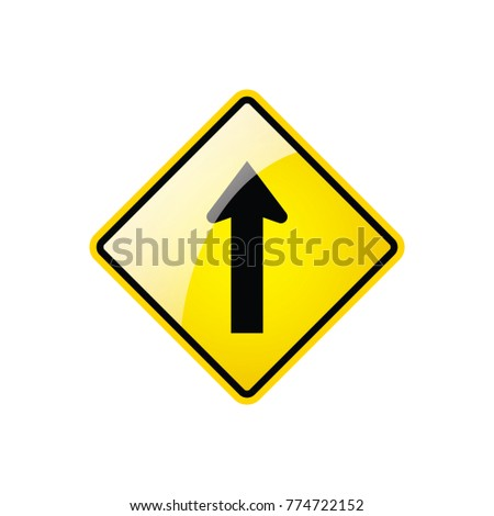 One Way Traffic Symbol Icon On Stock Vector Royalty Free 774722152