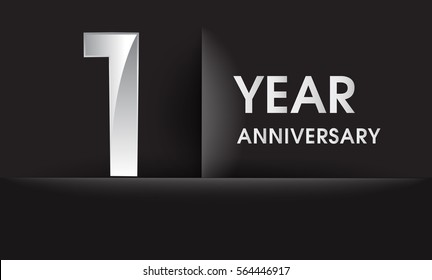 First anniversary card stock vectors images vector art