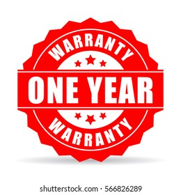 One year warranty vector icon on white background. Warranty star web icon.