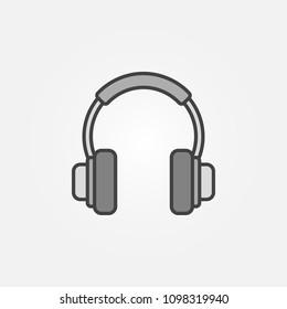 On-Ear Headphones vector concept icon or symbol