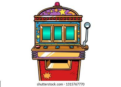 one-armed bandit slot machine. Pop art retro vector illustration vintage kitsch