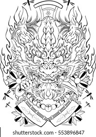 Oni Japan Design tattoo