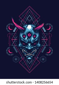 Japanese Demon Mask Wallpaper