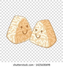 Onigiri, ice balls icon. Cartoon illustration of onigiri, ice balls vector icon for web