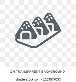 Onigiri icon. Onigiri design concept from Restaurant collection. Simple element vector illustration on transparent background.