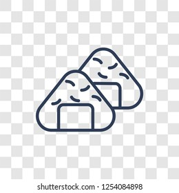 Onigiri icon. Trendy linear Onigiri logo concept on transparent background from Hotel and Restaurant collection