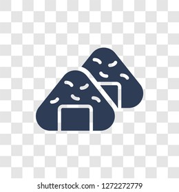 Onigiri icon. Trendy Onigiri logo concept on transparent background from Hotel and Restaurant collection