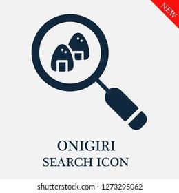Onigiri search icon. Editable Onigiri search icon for web or mobile.