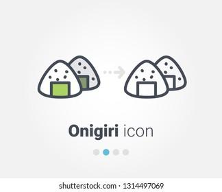 onigiri vector icon