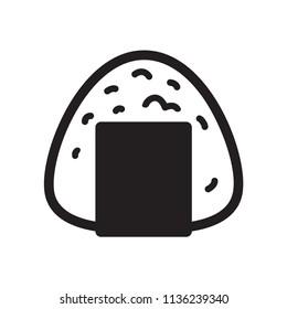 Onigiri vector Japanese food icon sushi logo graphic symbol cartoon illustration