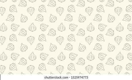 Onion vector. Onion pattern wallpaper. Onion doodle symbol. background.
