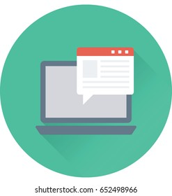 Online Article Vector Icon