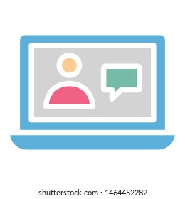 Online associates, online consulting vector icon which can easily modify or edit