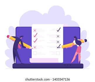 Online Banking Electronic Bill Concept. Financial Transaction Mobile Bank with Business People Work with Paper Bill. Statisctics and Analysis. Vector flat illustration