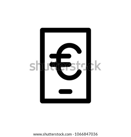 Online Banking Icon Vector Stock Vector Royalty Free 1066847036