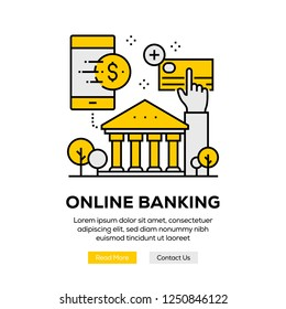 ONLINE BANKING INFOGRAPHIC CONCEPT