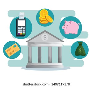 online banking technology with dataphone and credit card