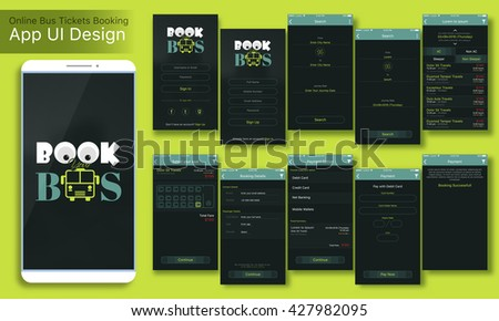 online bus tickets booking mobile app stock vector royalty free