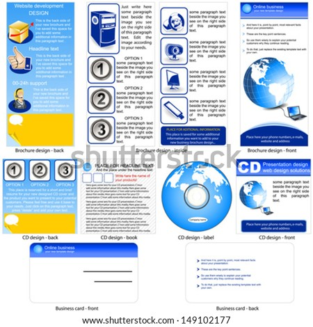 project front page design online