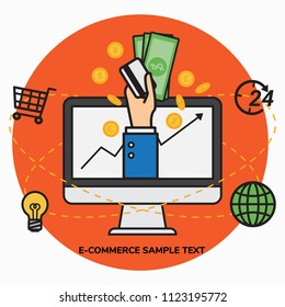 Online business, worldwide purchase, e-commerce concept