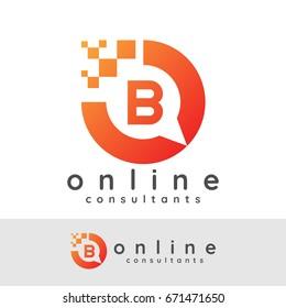 online consultants initial Letter B Logo design