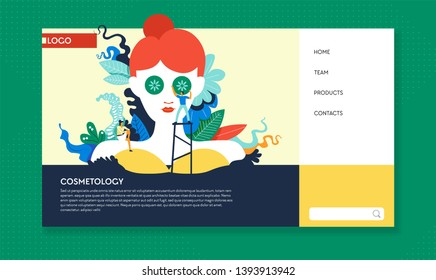 Cosmetology Hair Nails Makeup Stock Illustrations, Images