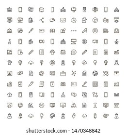 Online course line icon set. Collection of high quality black outline logo for web site design and mobile apps. Vector illustration on a white background