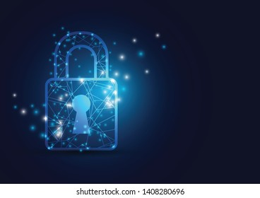Online data protection shield and abstract with computer technology