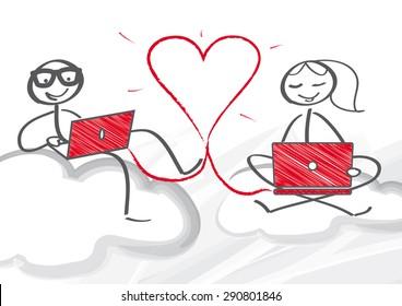 Online-Dating hochklassig