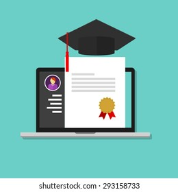 online degree laptop education college school graduate certificate