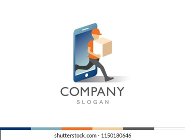 online delivery from mobile logo
