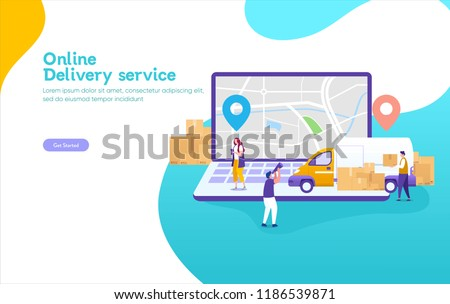 online delivery service concept online order stock vector royalty