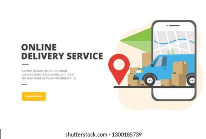 Offre en ligne Service de conception à plat de bannières d'illustration concept de marketing numérique et de promotion commerciale