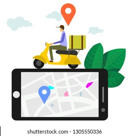 online delivery service vector illustration concept.