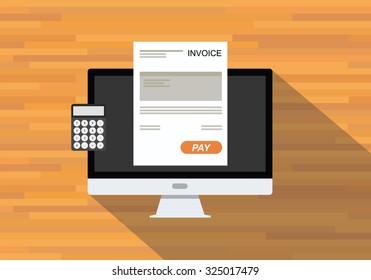 online digital invoices calculator document computer